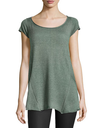 Wide-Neck Cashmere Tee