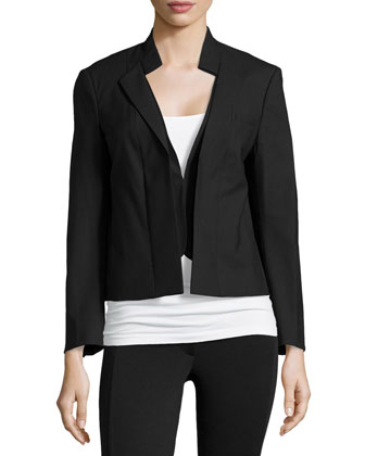 Long-Sleeve Cropped Tailored Jacket