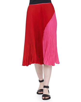Zeyn Colorblock Pleated Skirt