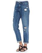 Tatiyana Destroyed Straight-Leg Jeans