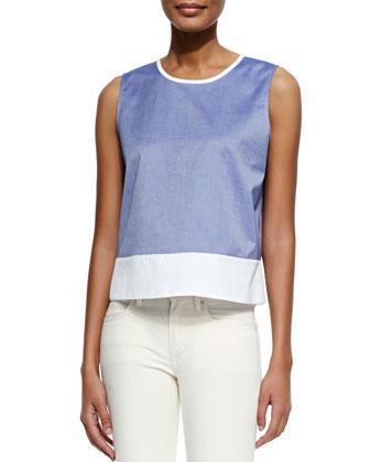 Dayne Panama Sleeveless Contrast Shirt