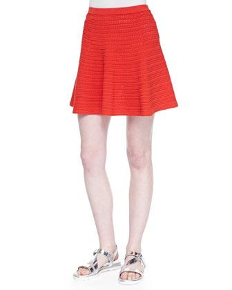 Junjeen Textured Knit Sleeveless Top & Rortie Textured Flared Skirt
