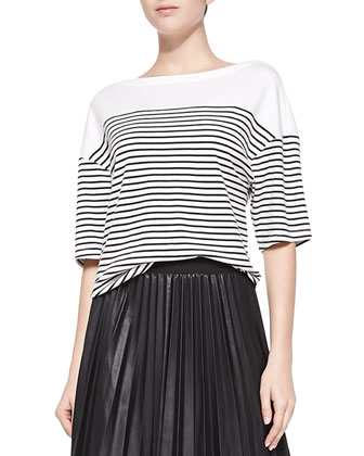 Cibella Classic Striped Knit Top