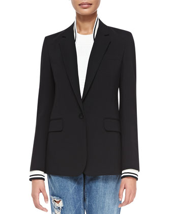 Talyia Refiner Twofer Jacket W/ Stripes