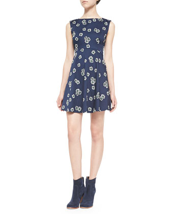 Eddy Floral Fit & Flare Dress