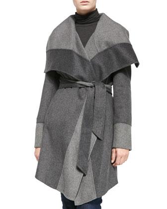 Double-Face Wrap Coat