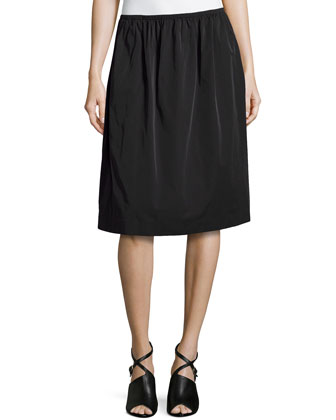 A-line Full Skirt, Black