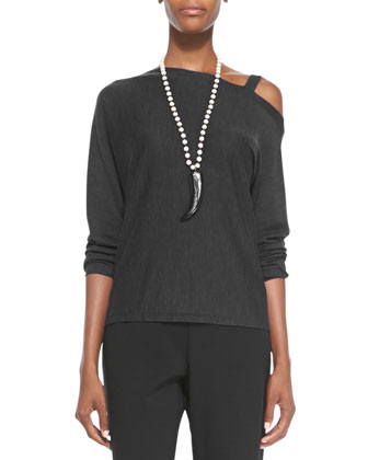 Asymmetric Open-Shoulder Top, Women's