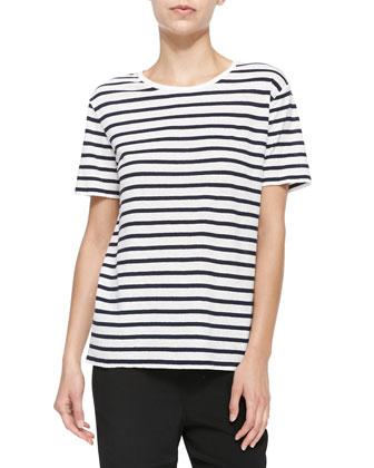 Short-Sleeve Tee w/ Stripes