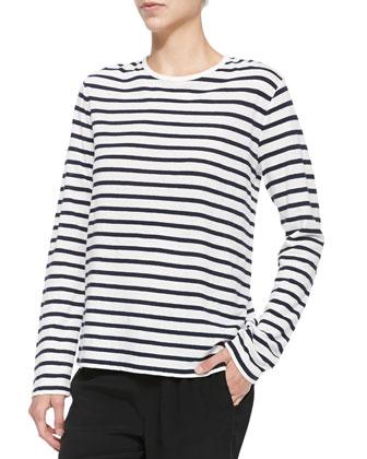Long-Sleeve Tee w/ Stripes