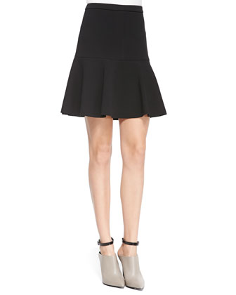 Fit & Flare Skirt W/ Structured Gores