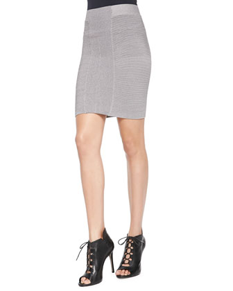 Ottaman-Stitch Sweater Skirt