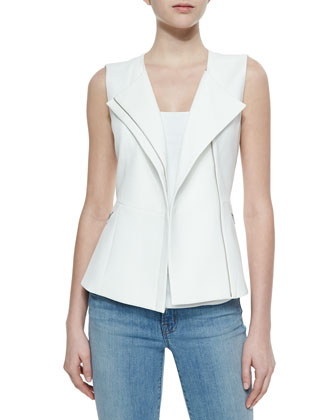 Mallary Tailored Asymmetric-Zip Vest