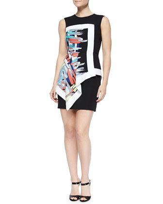 Alessandra Printed Layered Fitted Dress