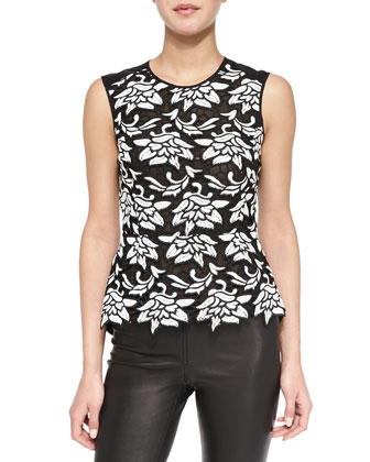 Shanine Sleeveless Lace/Georgette Top