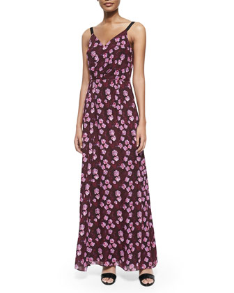 Sleeveless Cherry Blossom Tank Gown