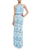 Moriah Printed Cutout Maxi Dress