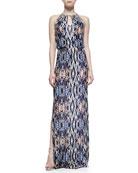 Moriah Abstract-Print Maxi Dress