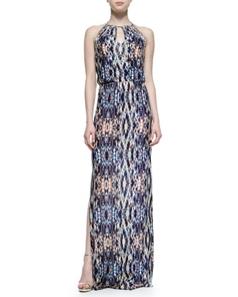 Moriah Abstract-Print Maxi Dress