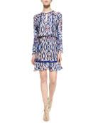 Ora Long-Sleeve Printed Dress