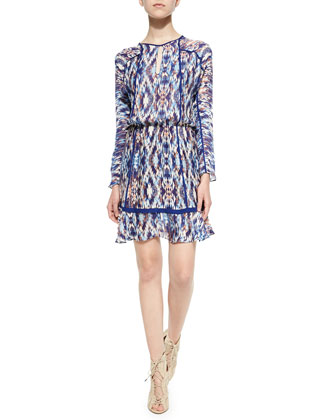 Ora Long-Sleeve Printed Dress