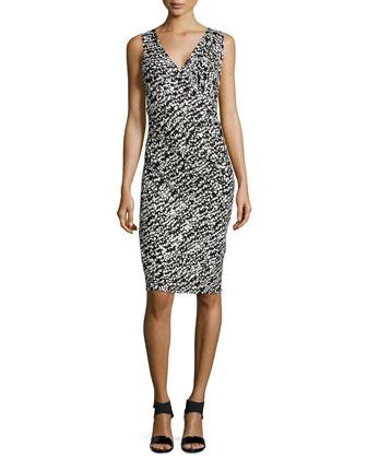 Dot-Print Jersey Dress