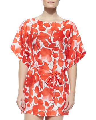 Matilde Printed Tie-Waist Coverup Tunic