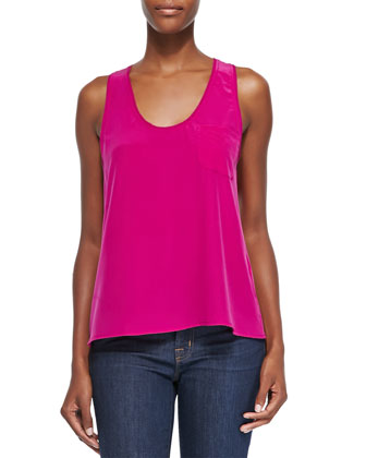 Candra Sleeveless Silk Easy Tank
