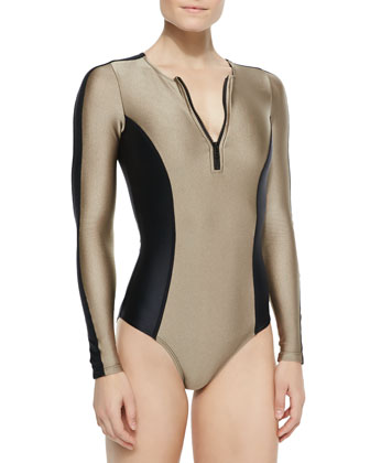 Betsey Long-Sleeve One-Piece