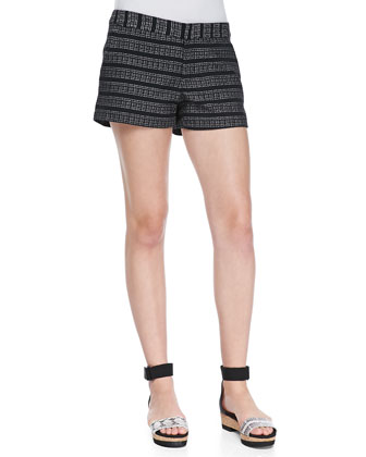 Merci Textured-Stripe Shorts