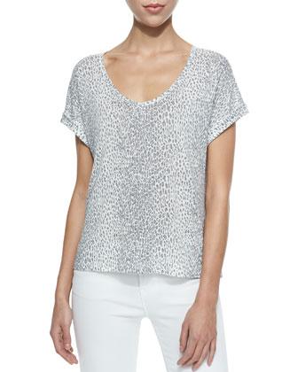 Omnira Short-Sleeve Leopard-Print Tee