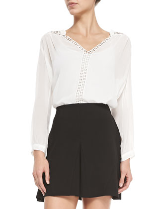 Lilura Cutout-Trim Blouse