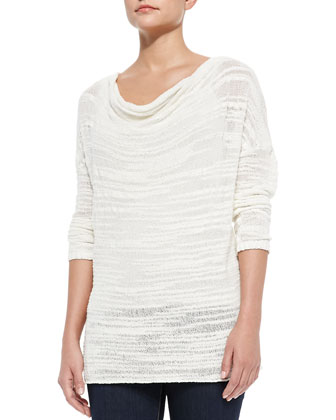 Estilyn Draped Slub-Knit Top