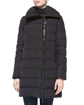 Gerbois Puffer Coat, Black