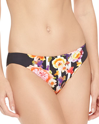 Romeo Rose Front-Zip Bandeau Top & Hipster Swim Bottom