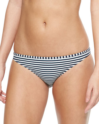 Clemente Striped Triangle Halter Top & Swim Bottom
