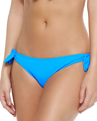 Bow-Front String Swim Top & Tie-Side Swim Bottom