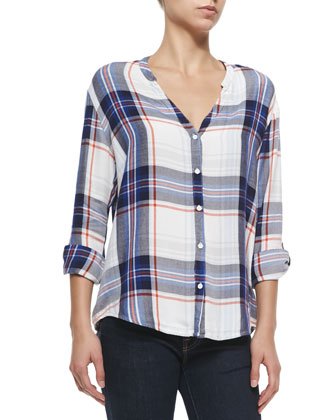 Dane Plaid Twill Top