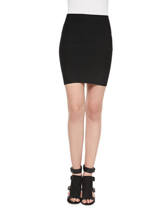 Simone Bandage Pencil Skirt, Black