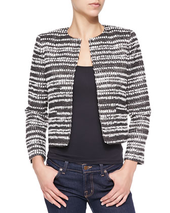 Kidman Metallic Tweed Striped Jacket