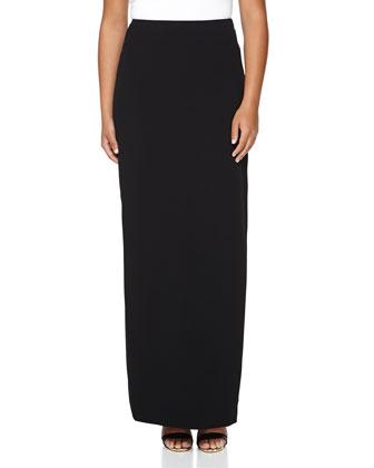 Solid Column Skirt, Black