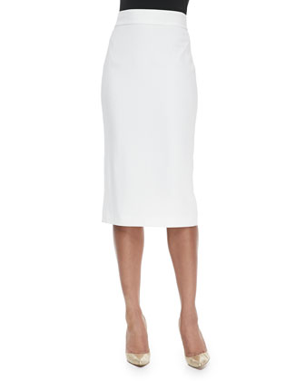 Long Mesh Pencil Skirt
