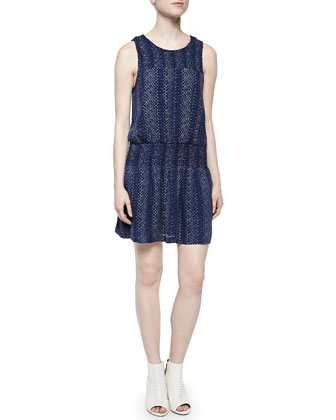 Kieran Sleeveless Blouson Silk Dress