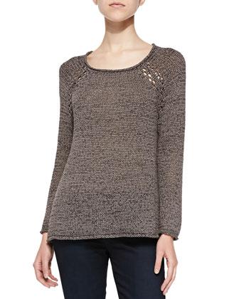 Duran Scoop-Neck Sweater W/ Raglan Sleeves