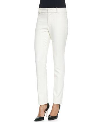Super Skinny Twill Pants, Ivory