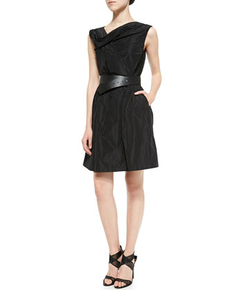 Heidi Draped Dress W/ Belt