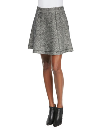 Exploration Flared Tweed Skirt