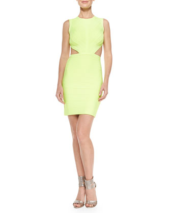 Audry Open-Back Bandage Dress
