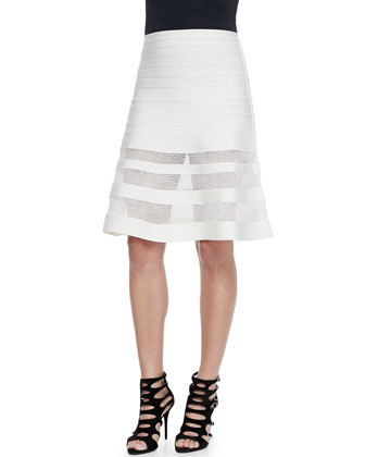 Alena Mesh-Insert Bandage Skirt