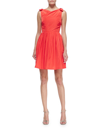 Jeanette Sleeveless Tie-Shoulder Dress